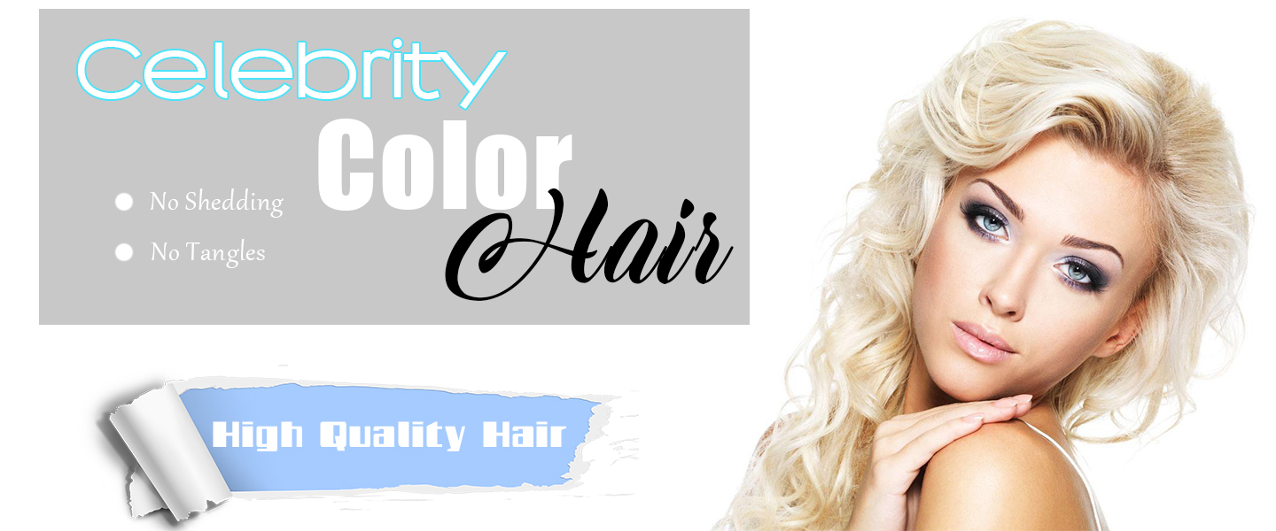 Celebrity Virgin colored Hair