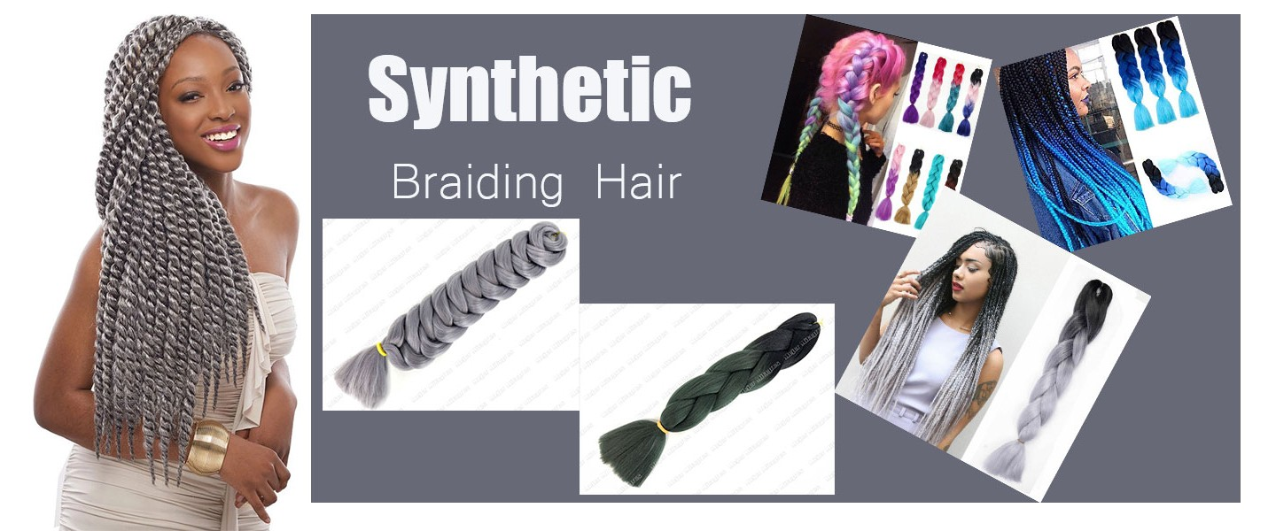Synthetic braiding hair